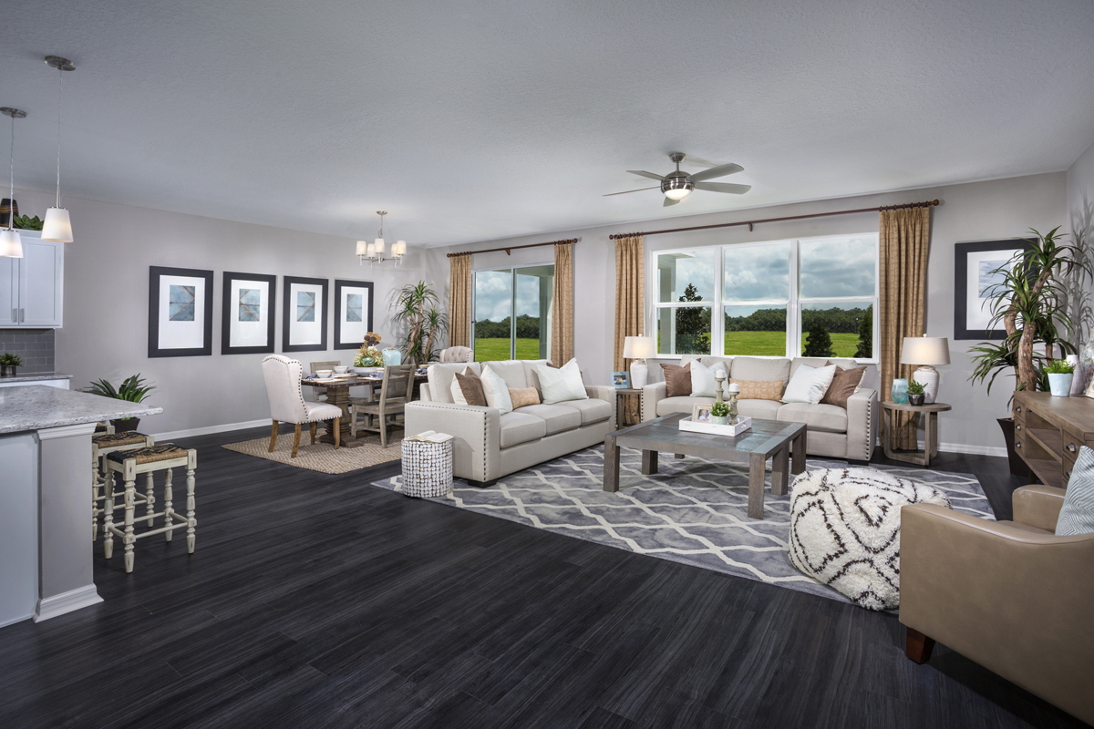 New Homes in Apopka, FL - Carriage Hill 2342 Great Room