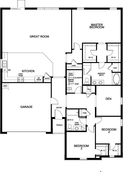 New Homes in Apopka, FL - Plan 2342 Modeled, First Floor