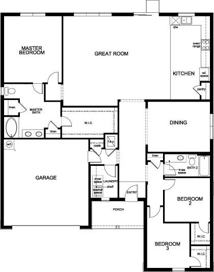 New Homes in Apopka, FL - Plan 2178, First Floor