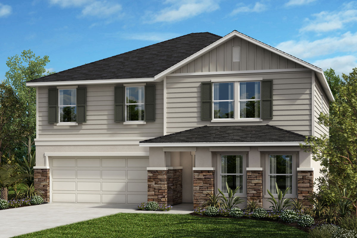 New Homes in Kissimmee, FL - Elevation H with optional stone