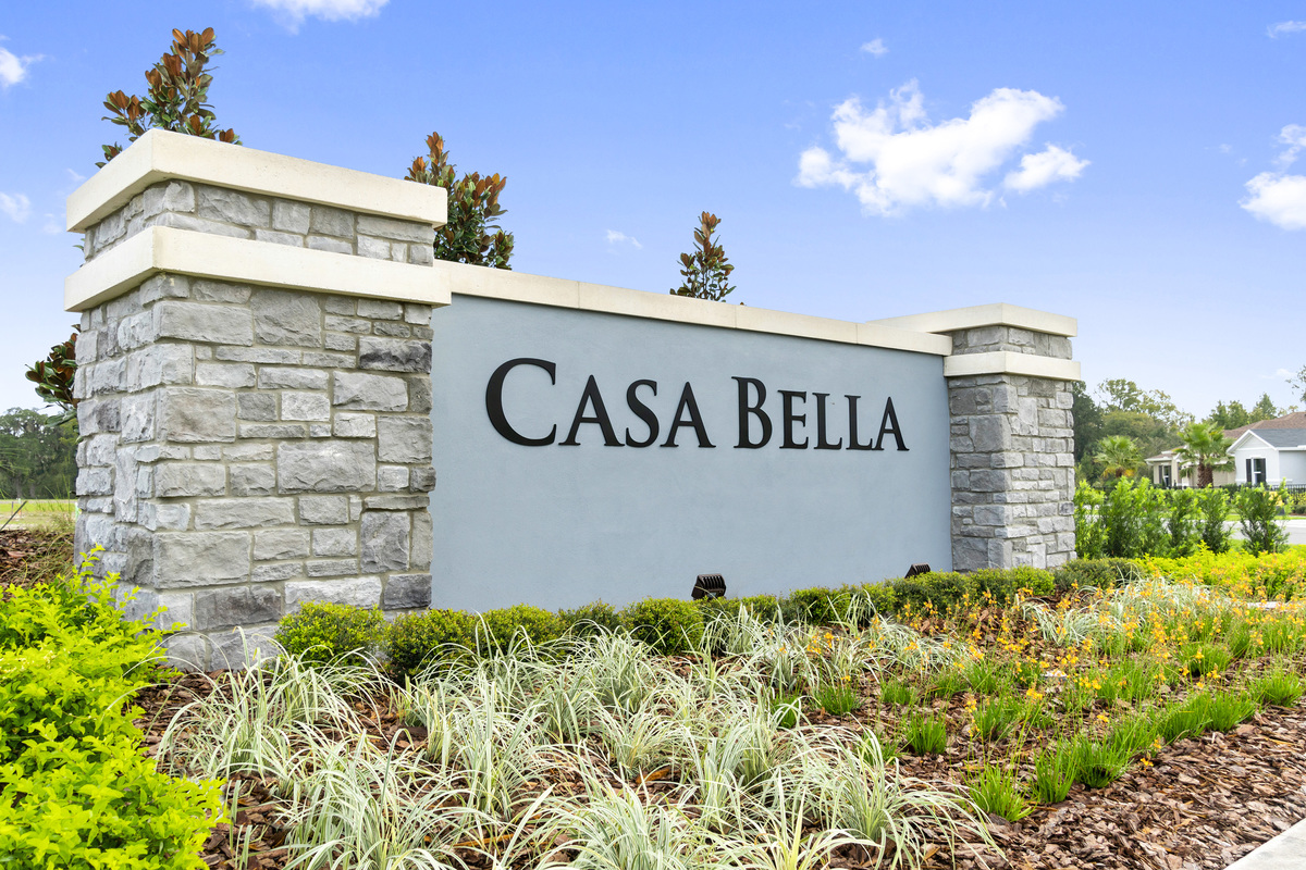 New Homes in Kissimmee, FL - Casa Bella Community Monument Sign