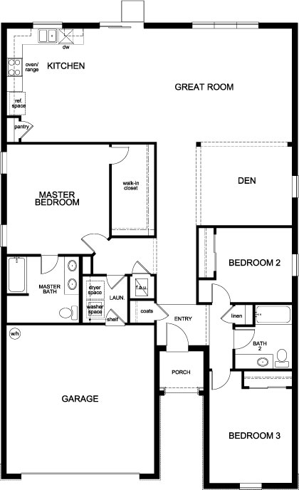 New Homes in Kissimmee, FL - Plan 1933, First Floor