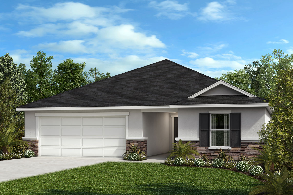 New Homes in Orlando, FL - Elevation F (with optional Stone)