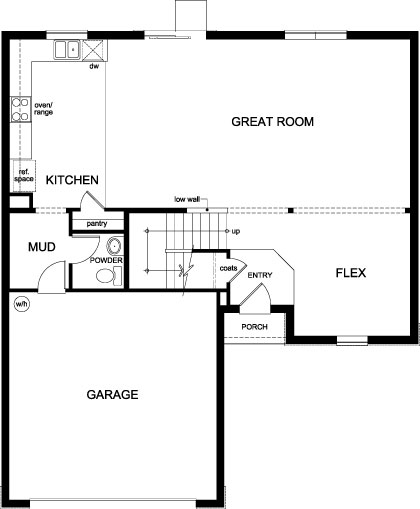 New Homes in Orlando, FL - Plan 2545, First Floor