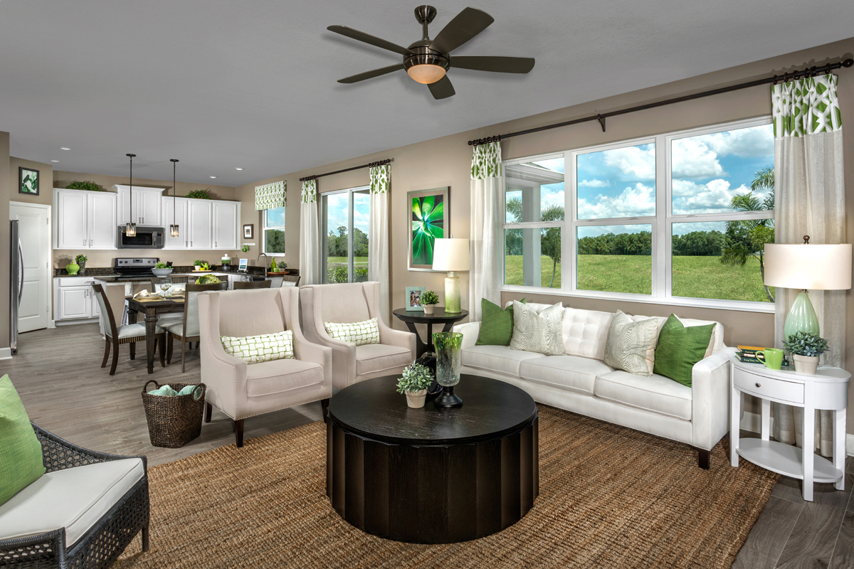 New Homes in Orlando, FL - Creekstone 1933 Great Room