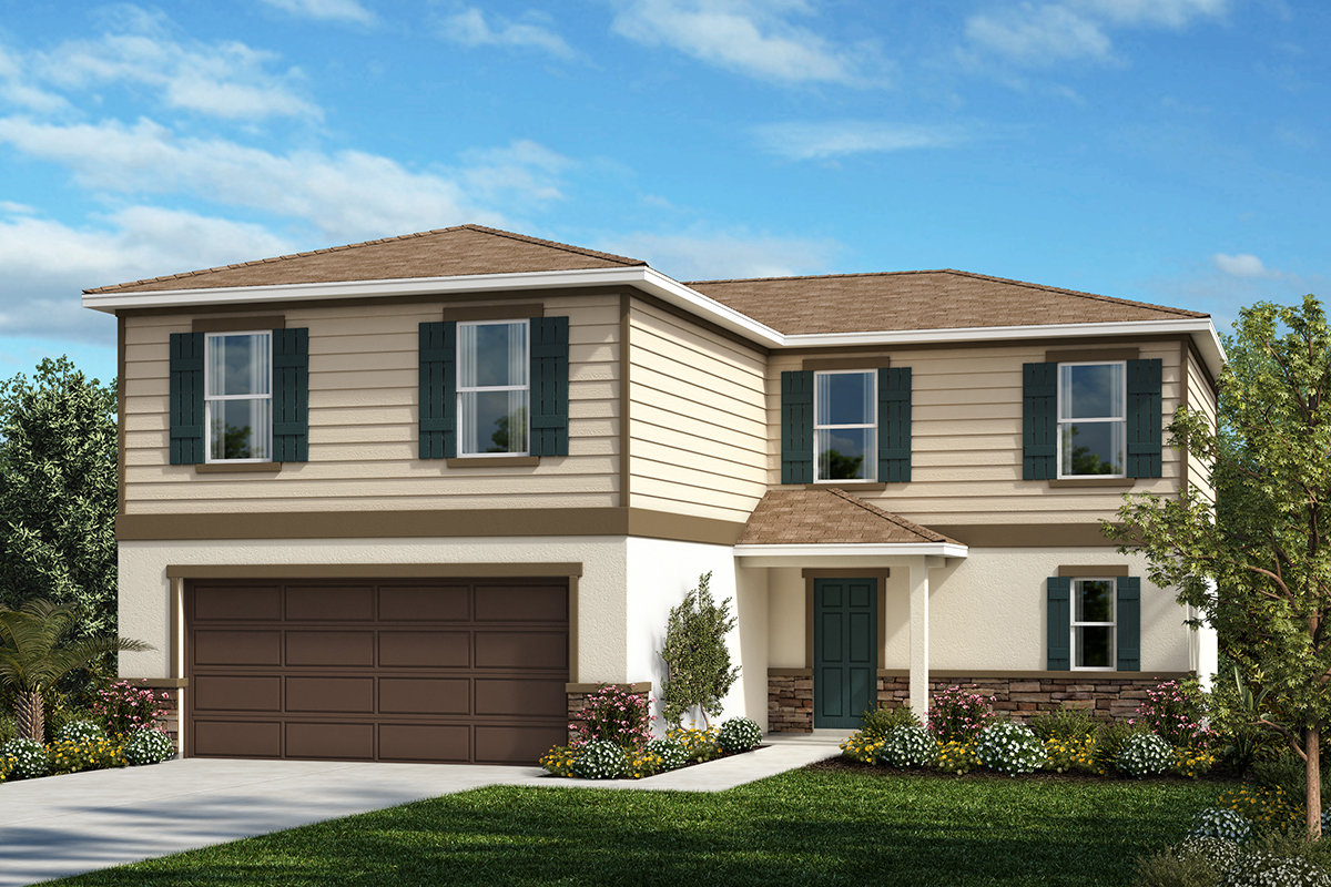 New Homes in Kissimmee, FL - Elevation E with optional stone