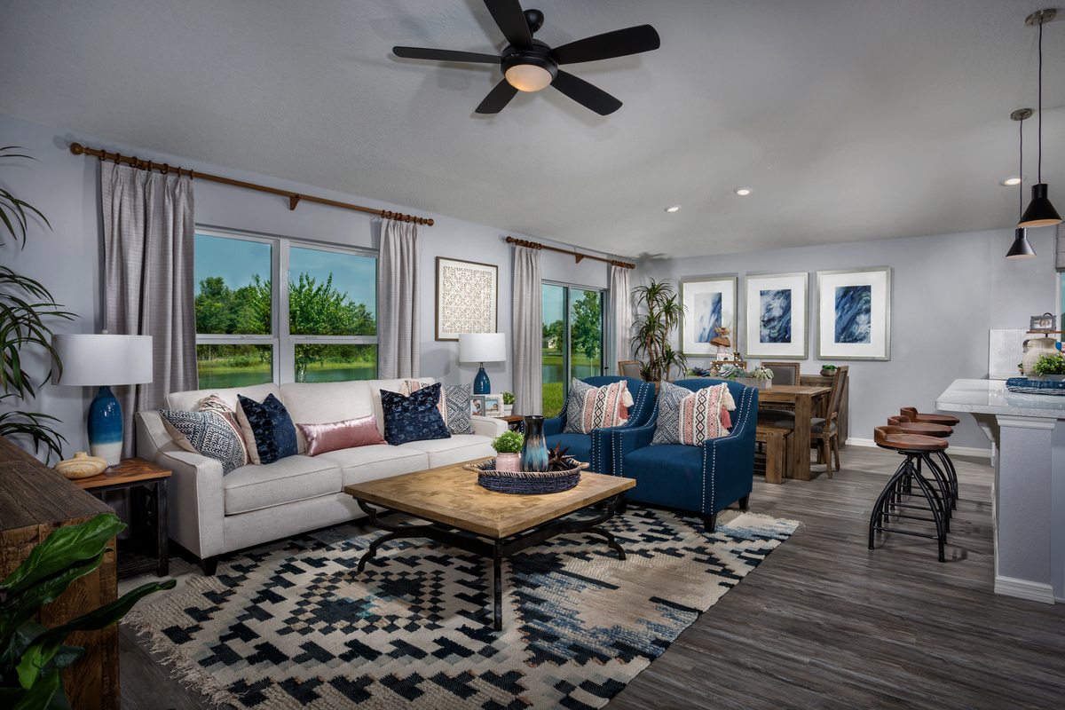 New Homes in Kissimmee, FL - Eagle Hammock 1541 Great Room