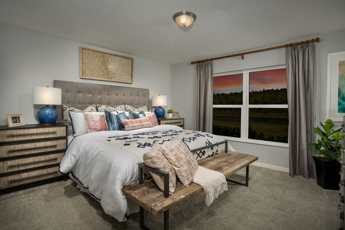 New Homes in Kissimmee, FL - Eagle Hammock 1541 Master Bedroom
