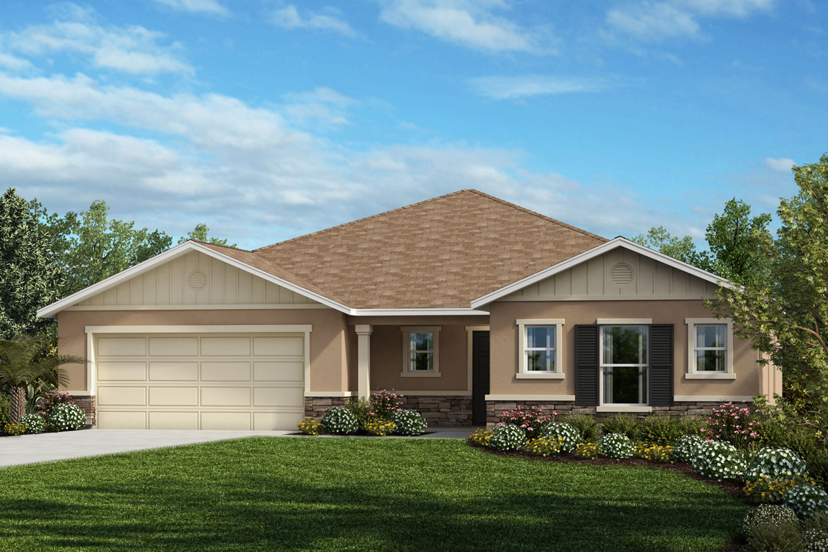 New Homes in Mascotte, FL - Elevation H with optional stone