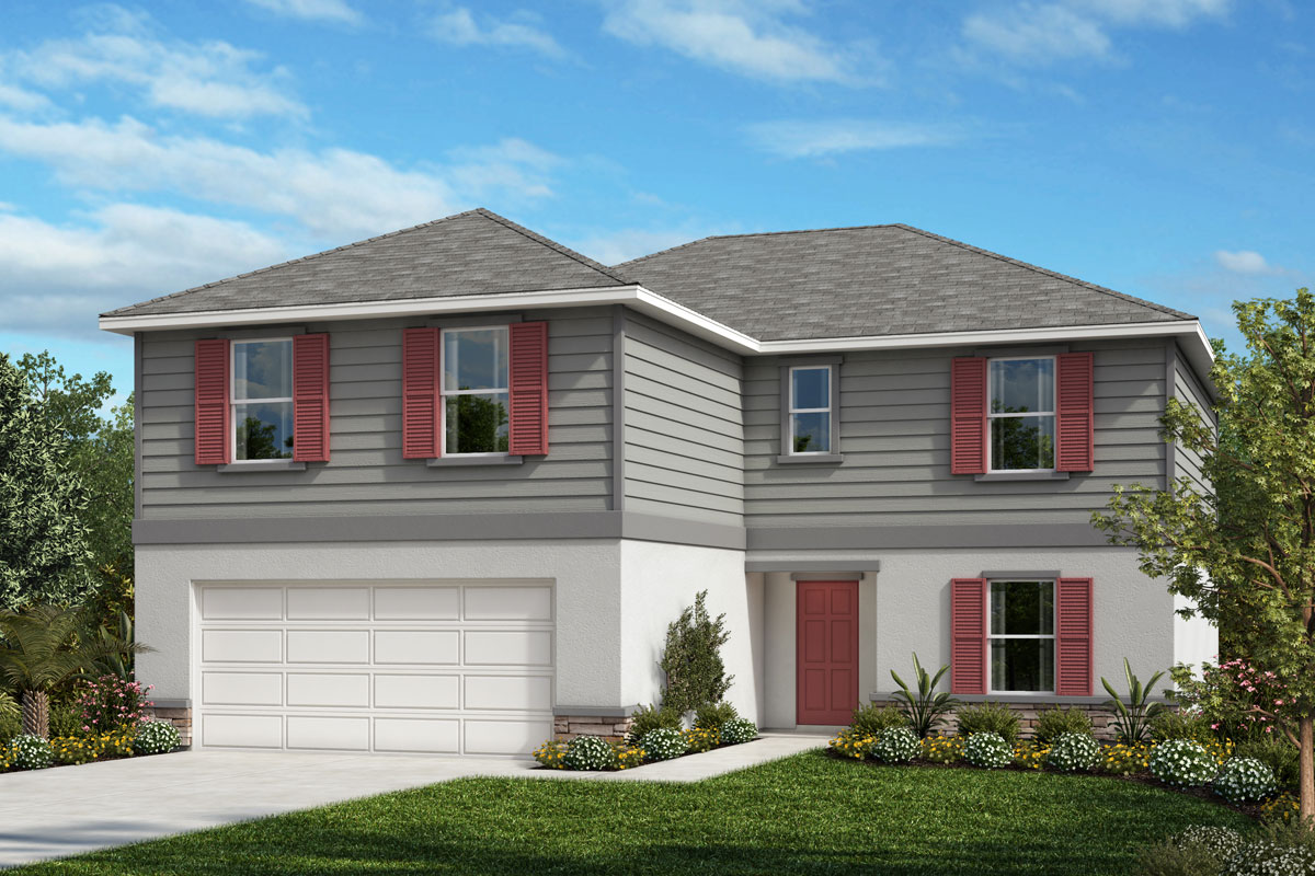 New Homes in Mascotte, FL - Elevation E with optional stone