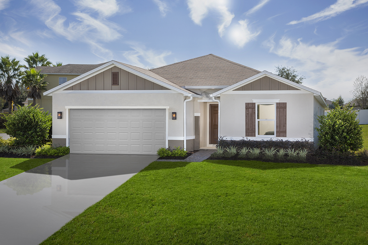 New Homes in Clermont, FL - The Sanctuary II Plan 1707 as modeled at Gardens at Lake Jackson Ridge