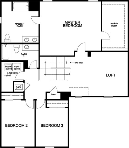New Homes in Mascotte, FL - Plan 2545, Second Floor