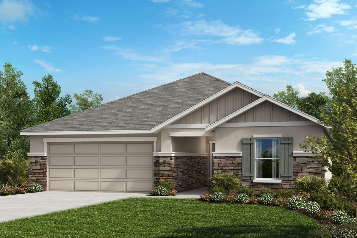 New Homes in St. Cloud, FL - Elevation G with optional stone