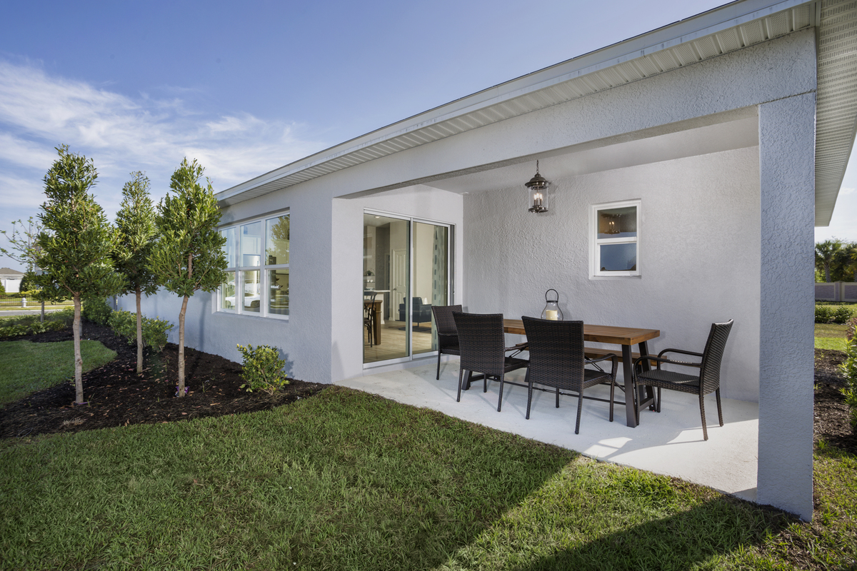 New Homes in St. Cloud, FL - Gramercy Farms II 1637 Back Patio