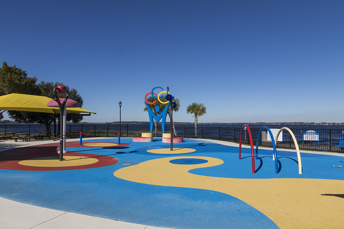 New Homes in Groveland, FL - Wilson Estates Clermont Lake Front Park Splash Pad