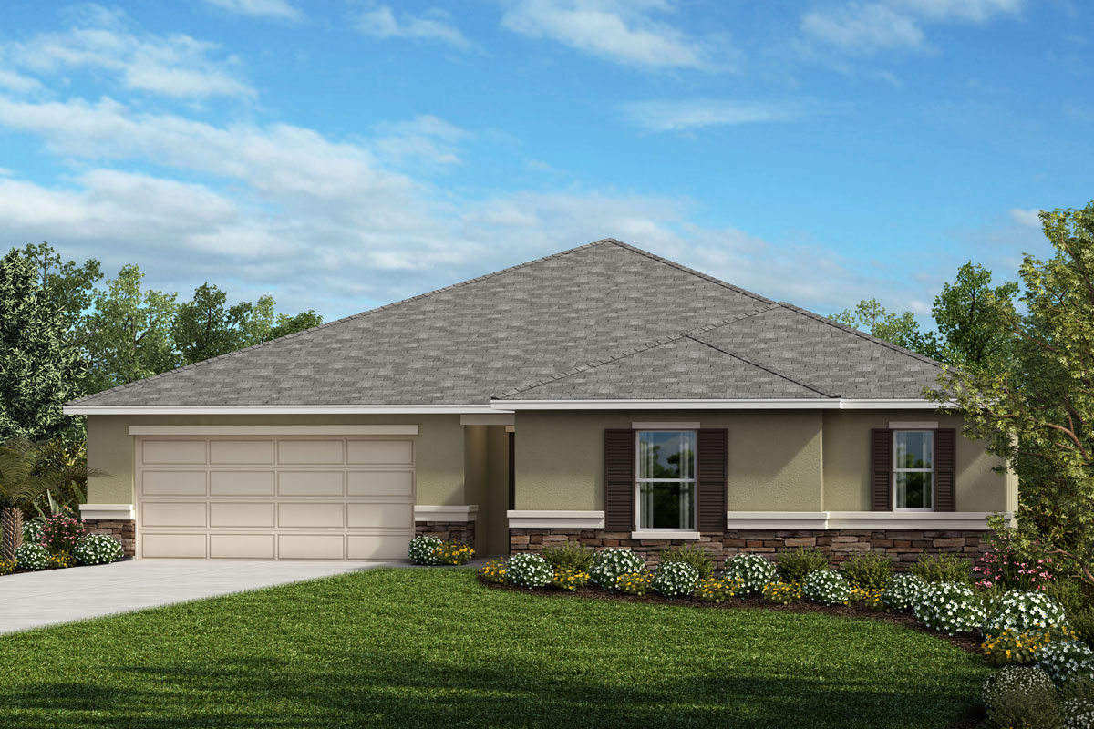 New Homes in Clermont, FL - Elevation A wtih optional stone