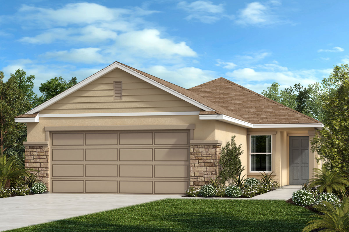 New Homes in Sanford, FL - Elevation F with optional stone
