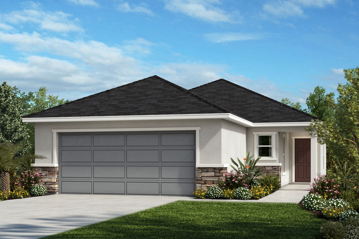 New Homes in Sanford, FL - Landings at Riverbend Elevation A with optional stone