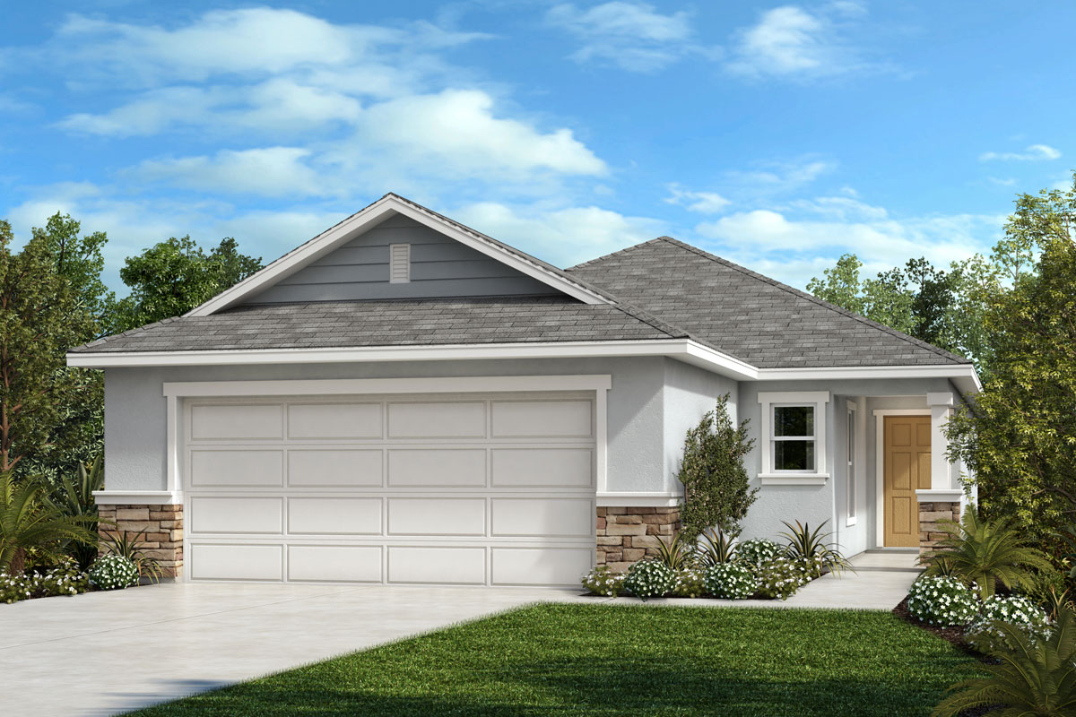 New Homes in Sanford, FL - Landings at Riverbend Elevation F with optional stone