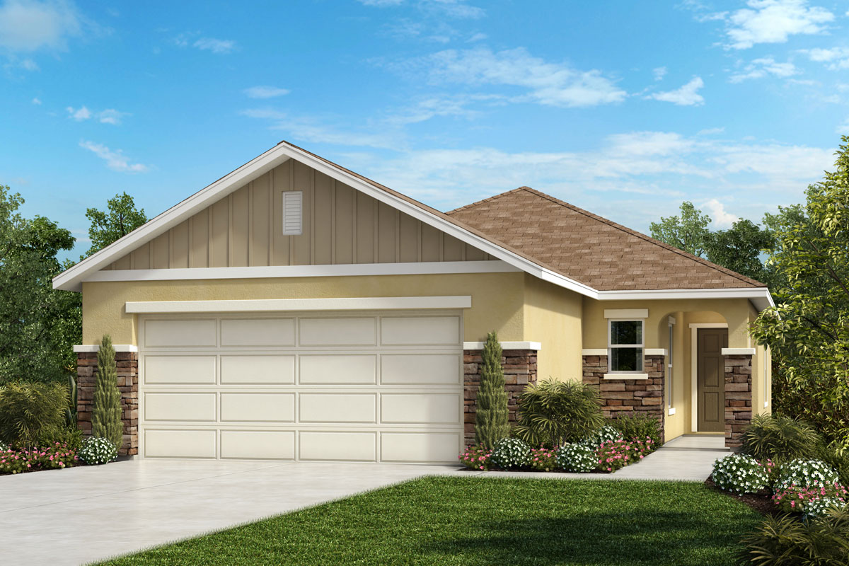 New Homes in Sanford, FL - Landings at Riverbend Elevation G with optional stone