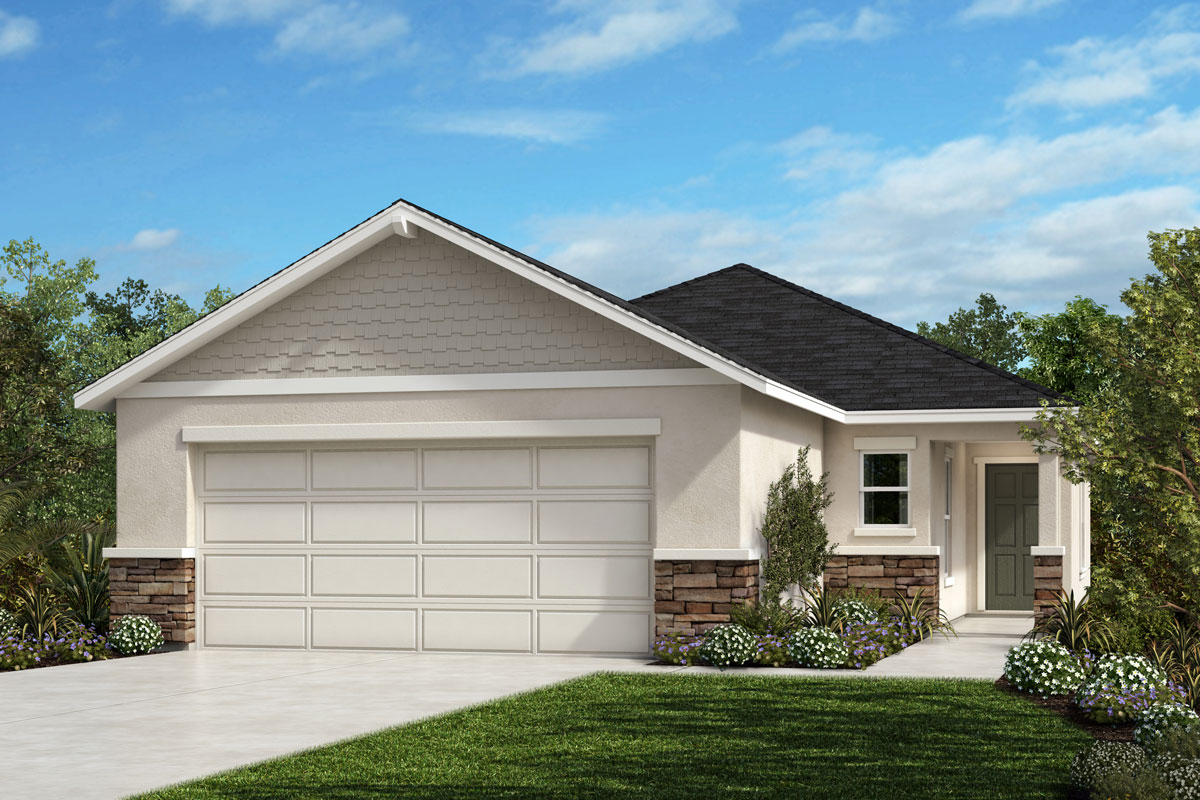 New Homes in Sanford, FL - Landings at Riverbend Elevation H with optional stone
