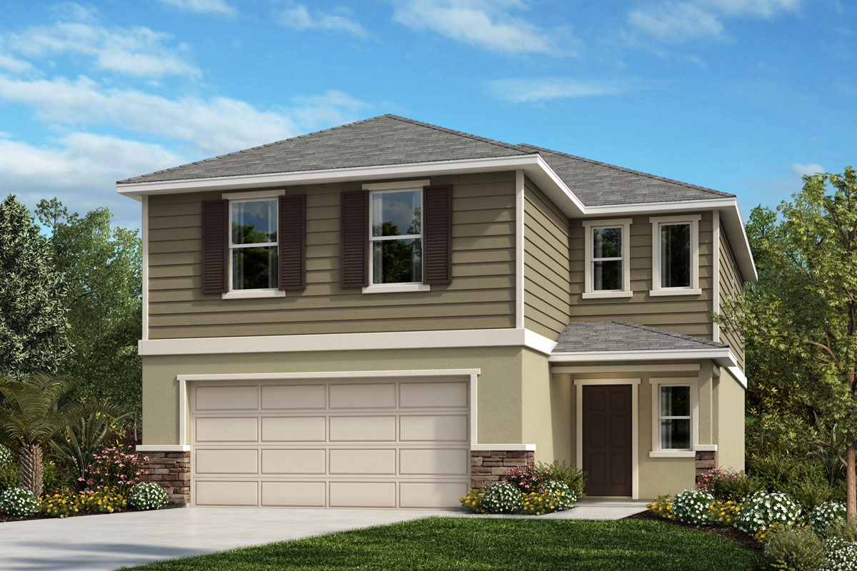 New Homes in Sanford, FL - Elevation E with optional stone