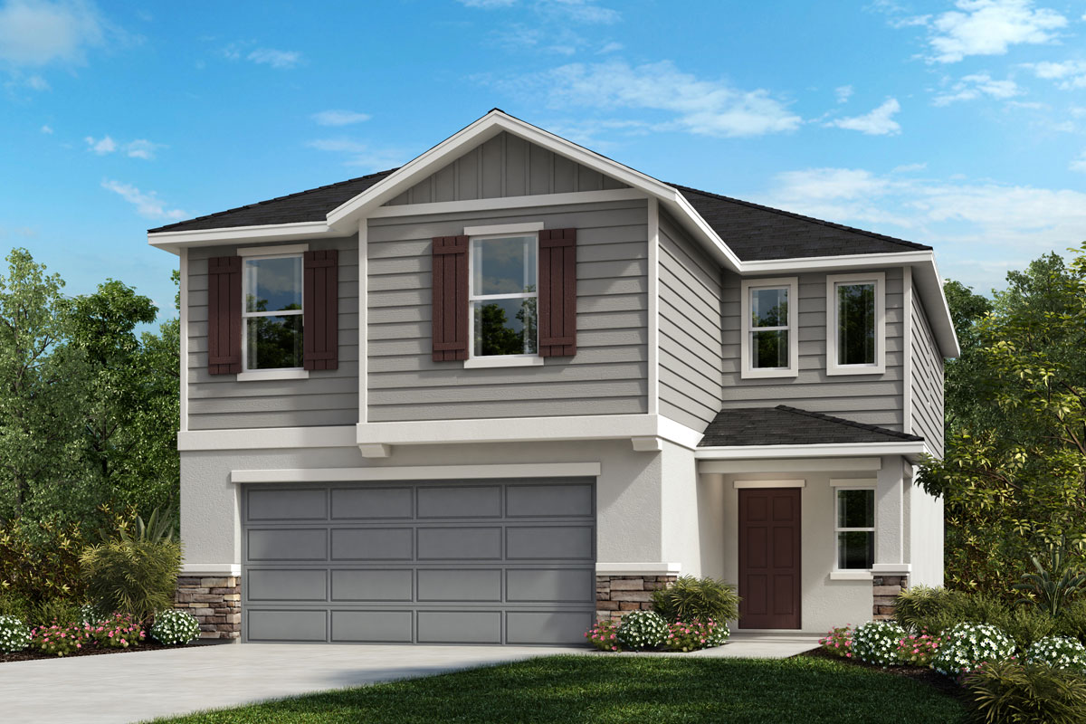 New Homes in Sanford, FL - Elevation G with optional stone