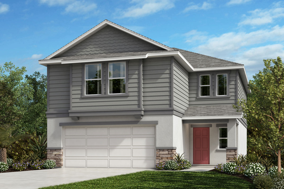 New Homes in Sanford, FL - Elevation H with optional stone