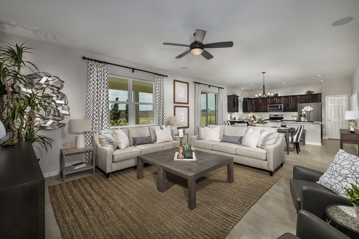 New Homes in Davenport, FL - Magnolia at Westside 2566 Great Room