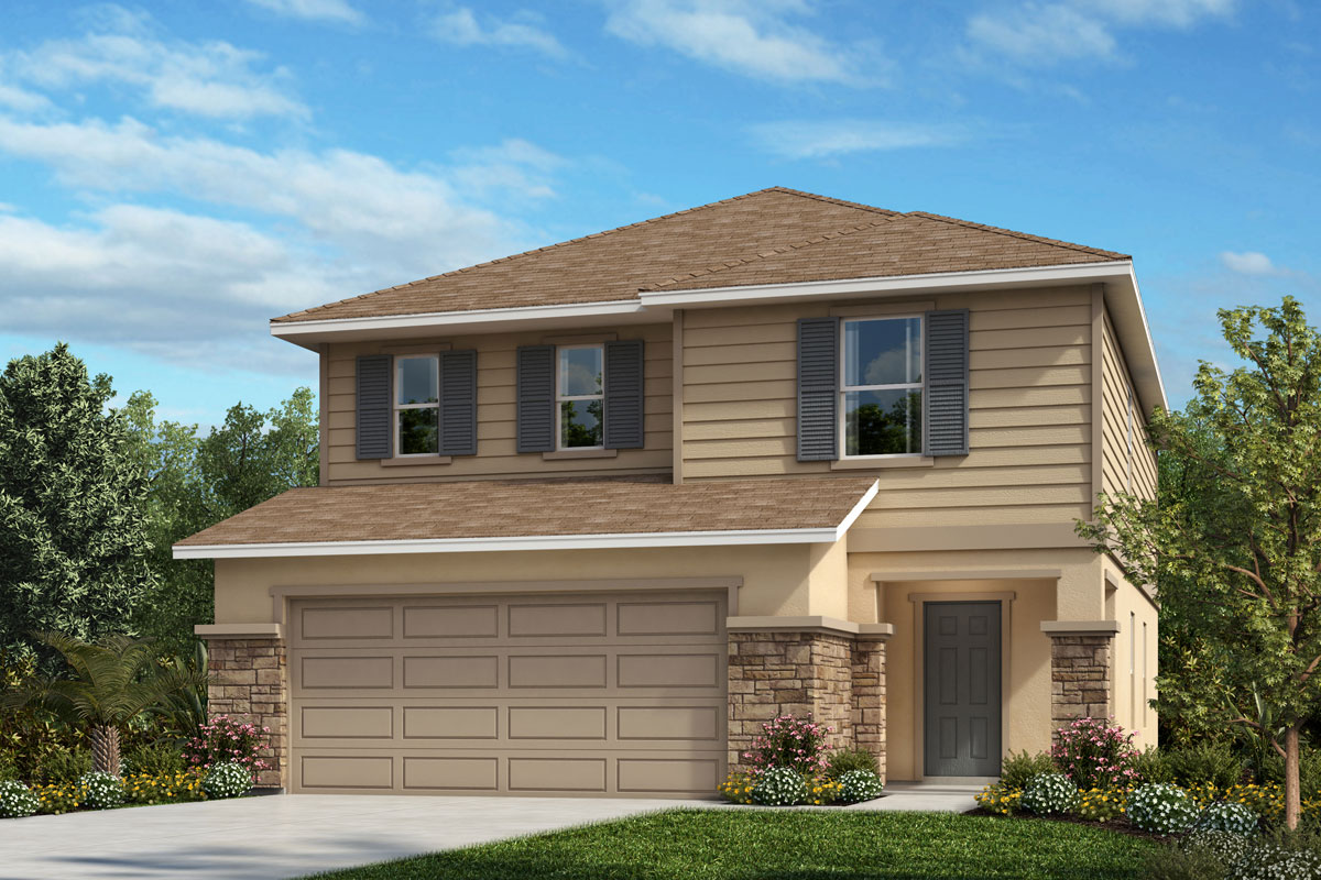 New Homes in Davenport , FL - Elevation E with optional stone
