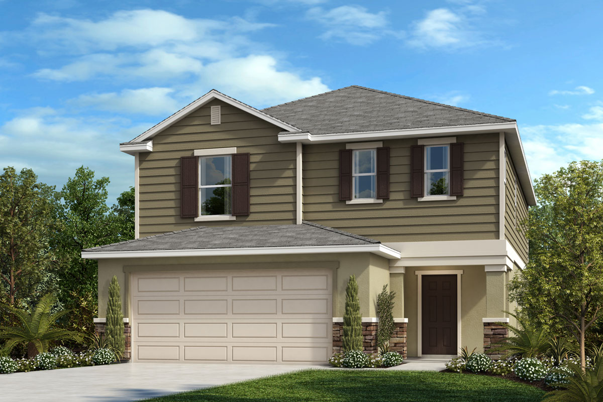 New Homes in Davenport , FL - Elevation F with optional stone
