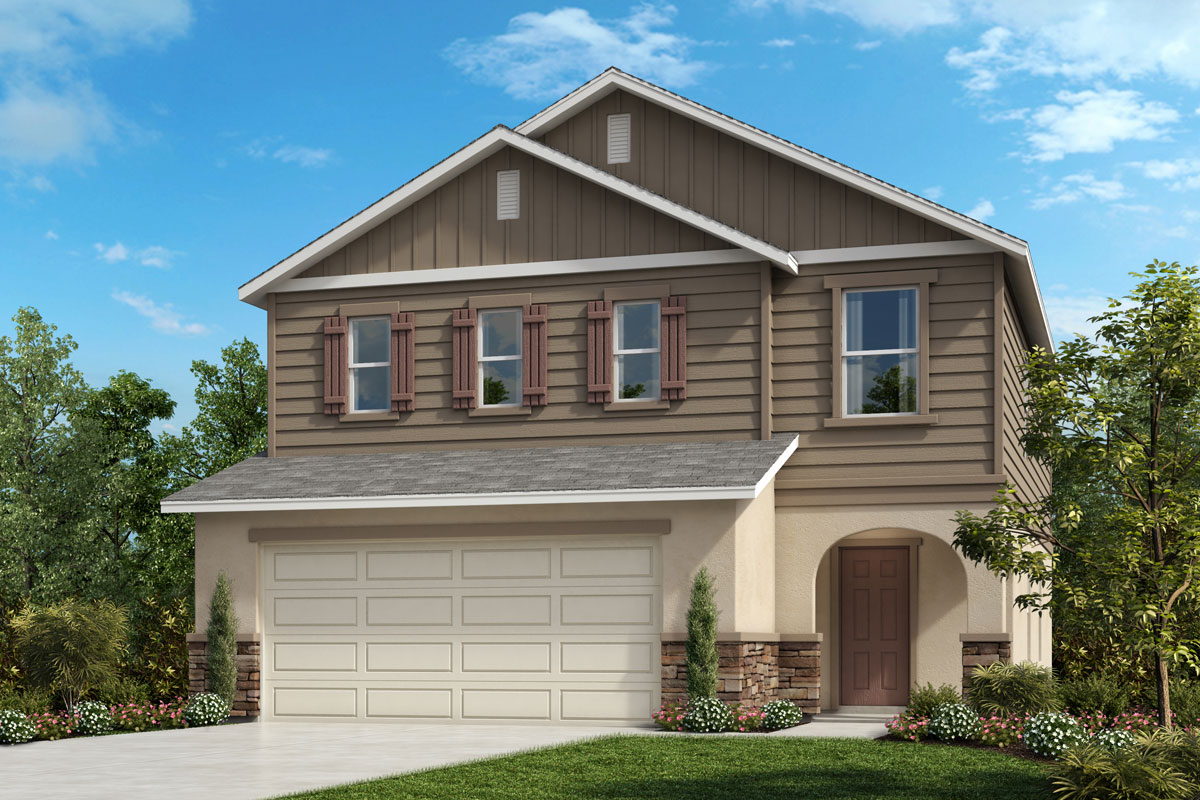 New Homes in Davenport , FL - Elevation G with optional stone