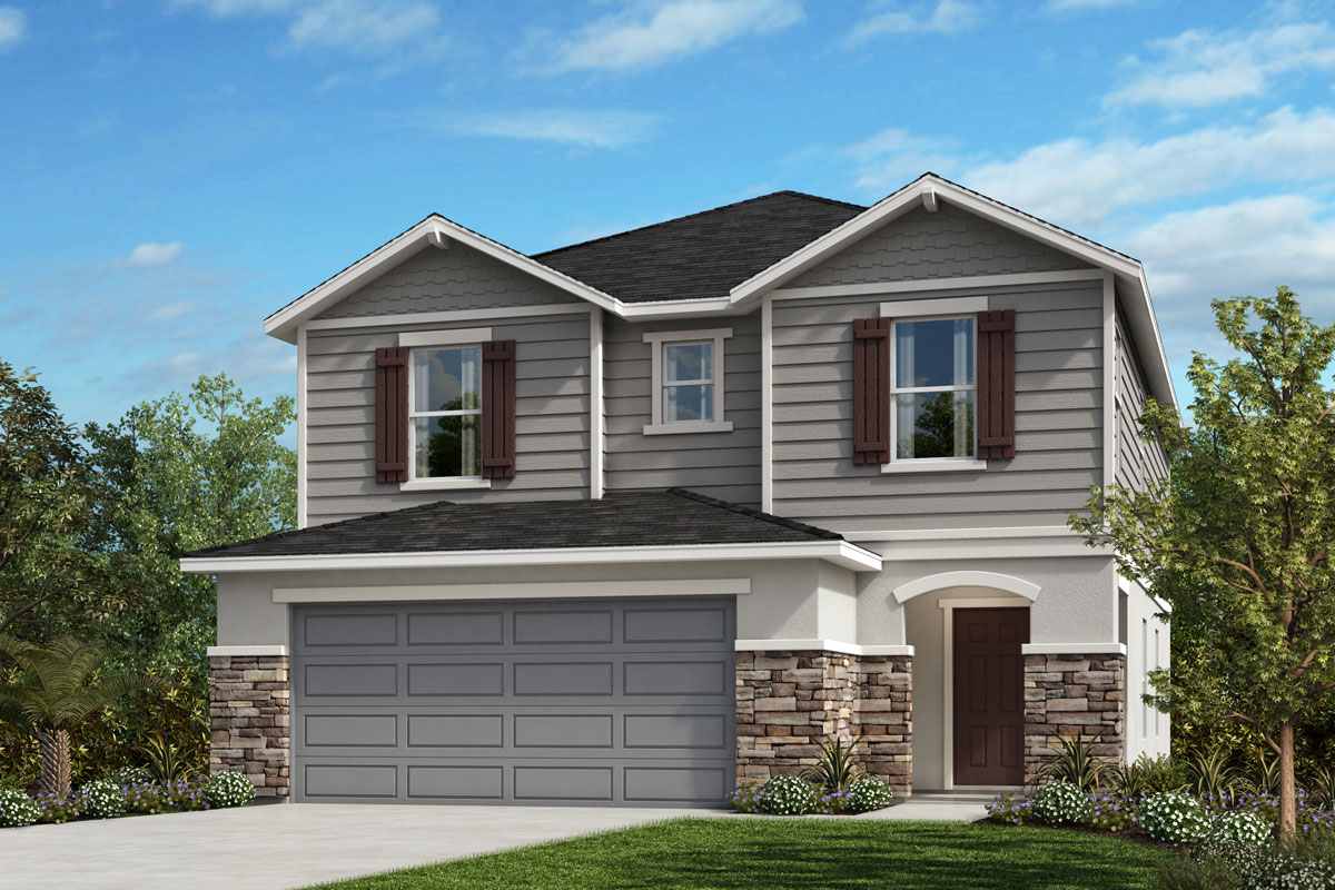 New Homes in Davenport , FL - Elevation H with optional stone