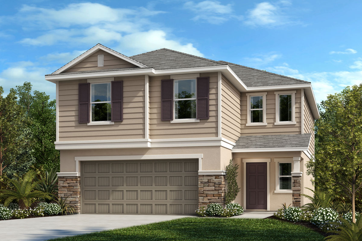 New Homes in Davenport, FL - Elevation F wtih optional stone