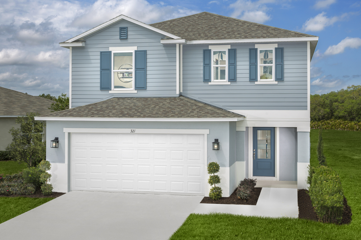 New Homes in Clermont, FL - The Sanctuary I Plan 2107 as modeled at Preservation Pointe