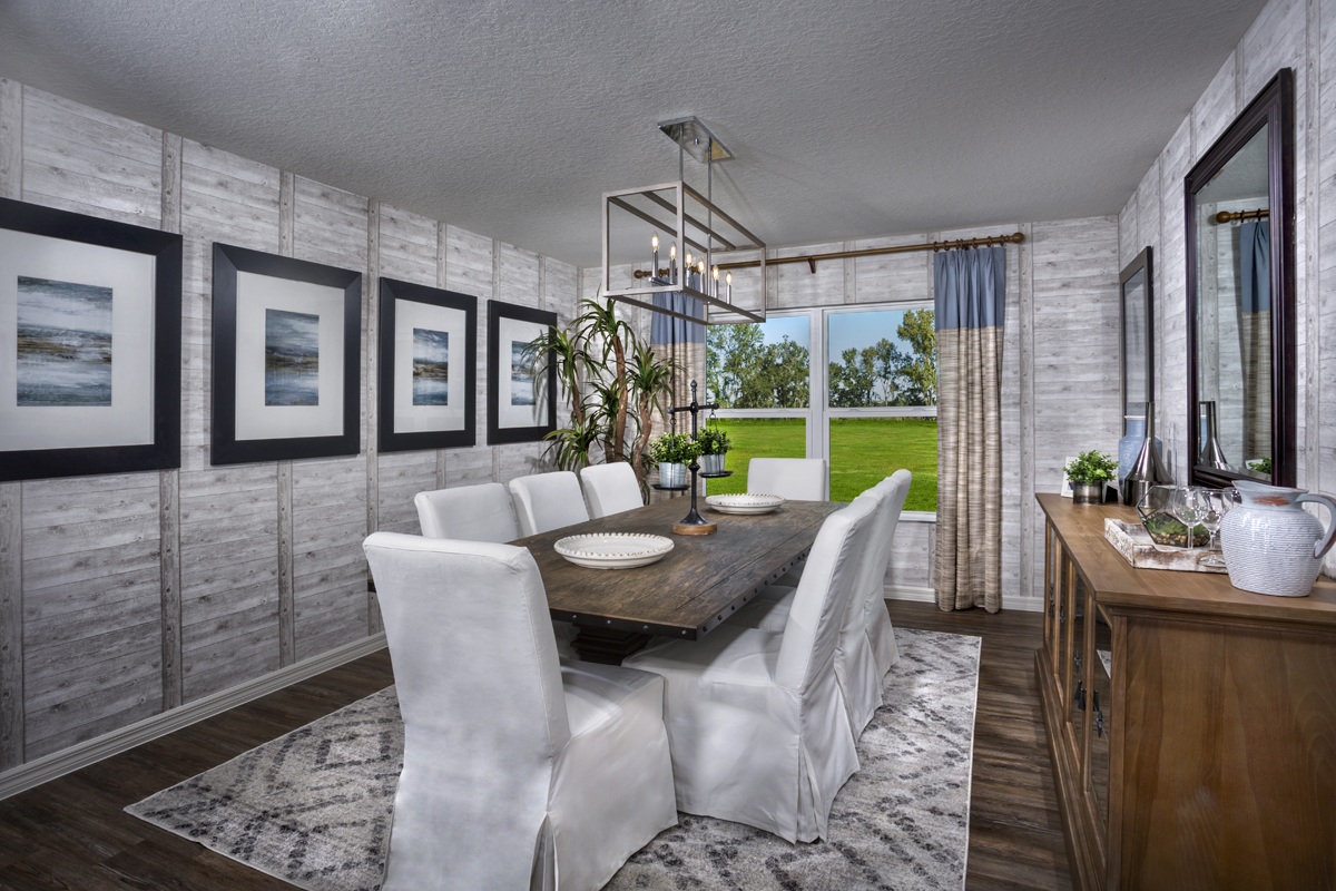 New Homes in Minneola, FL - The Reserve at Lake Ridge 2178 dining room as modeled at Lake Minneola Landings