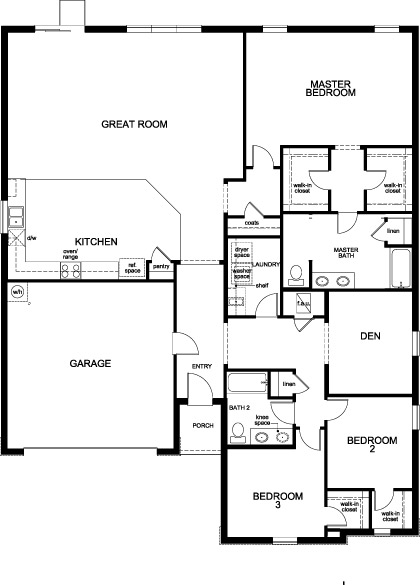 New Homes in Minneola, FL - Plan 2342, First Floor