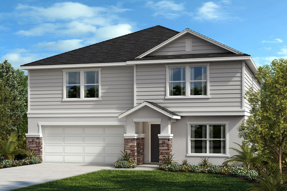 New Homes in St. Cloud, FL - Elevation F with optional stone