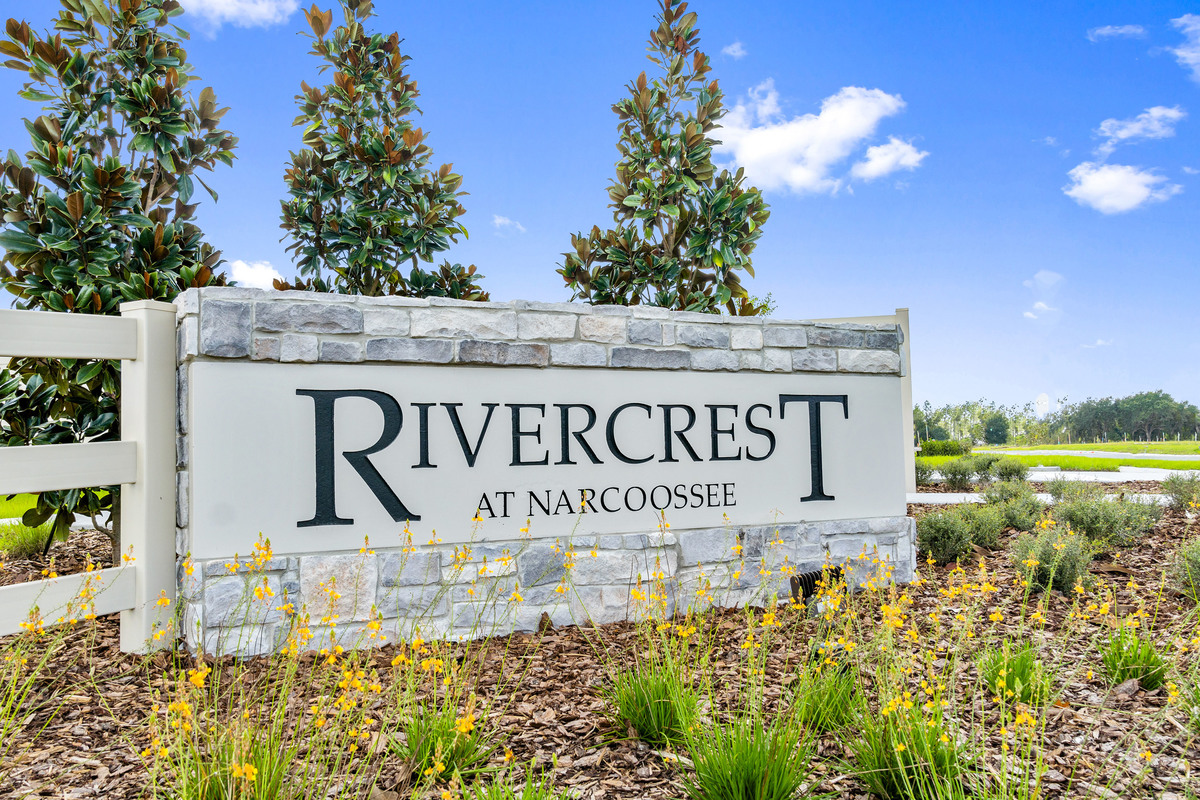 New Homes in St. Cloud, FL - Rivercrest at Narcoossee Community Monument Sign