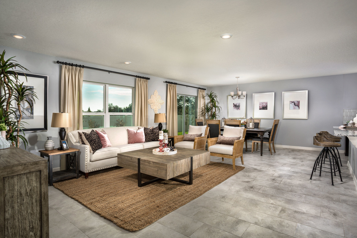New Homes in St. Cloud, FL - Rivercrest at Narcoossee Plan 1760 Great Room
