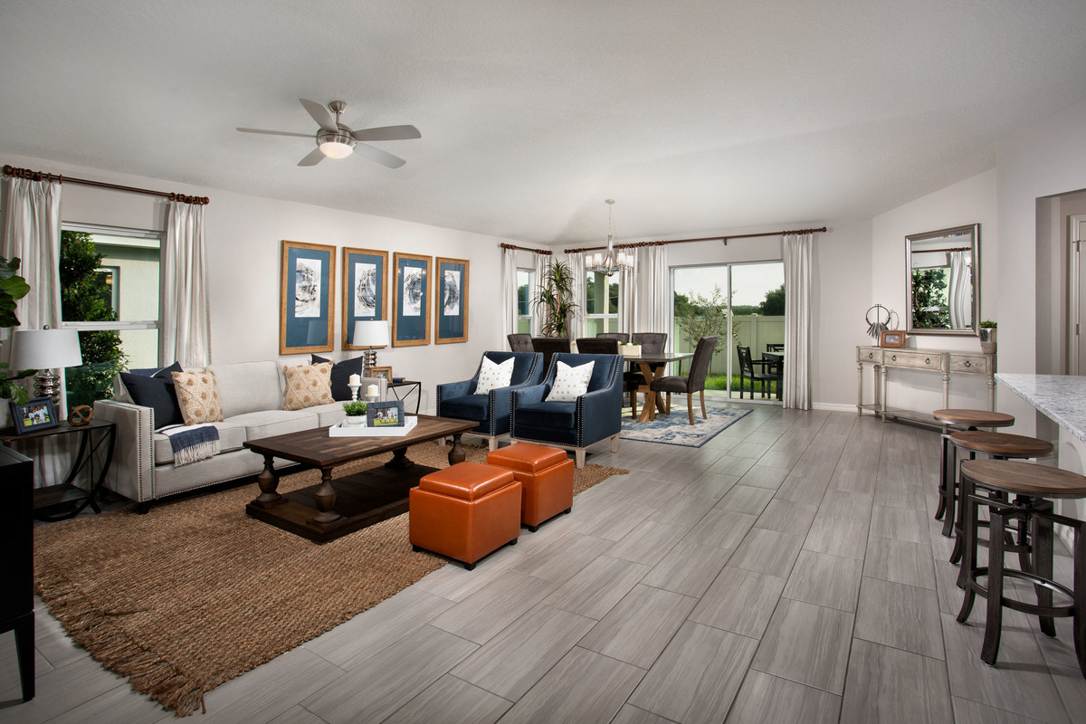 New Homes in St. Cloud, FL - Rivercrest at Narcoossee 1989 Great Room
