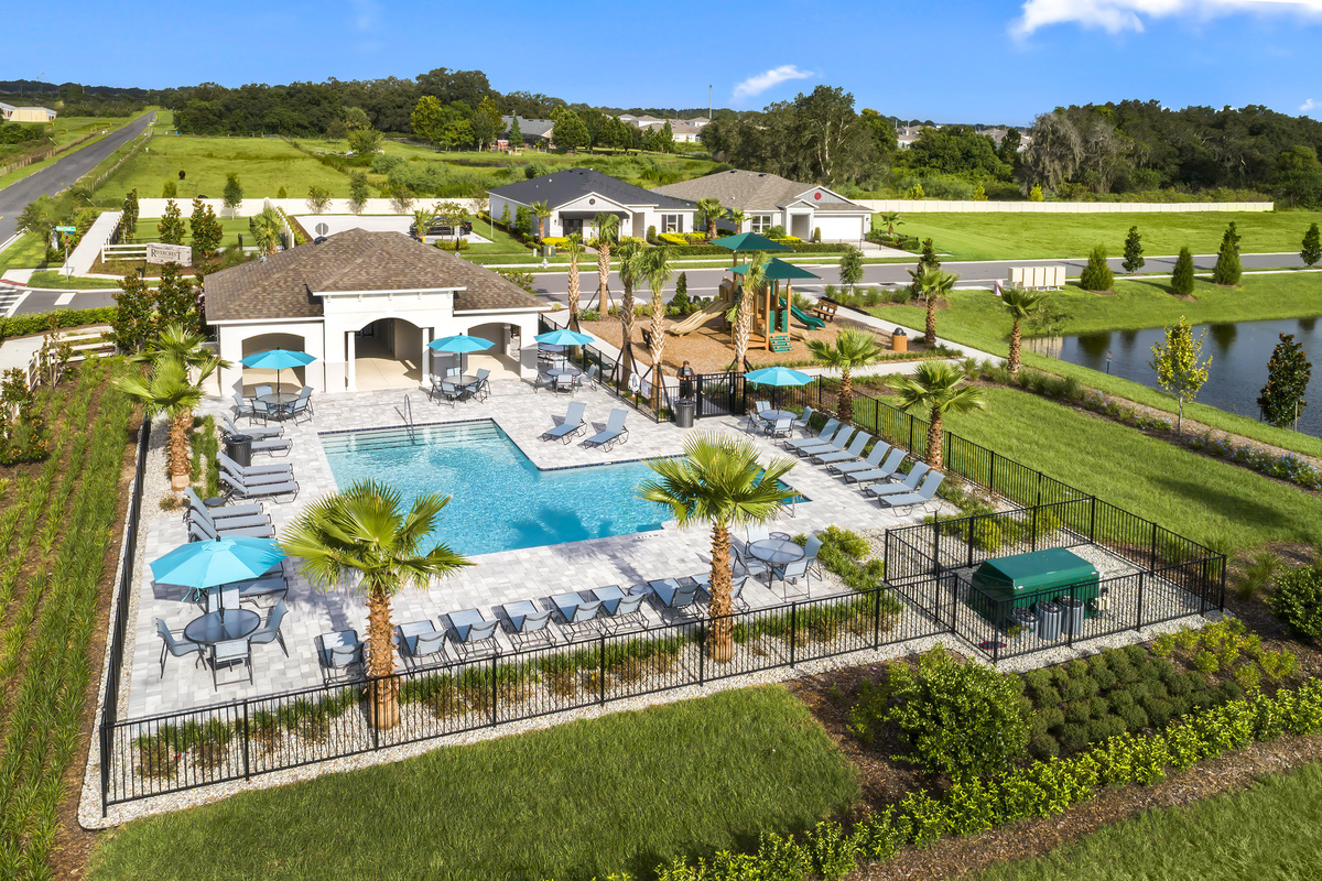 New Homes in St. Cloud, FL - Rivercrest at Narcoossee Community Pool, Cabana, Tot Lot