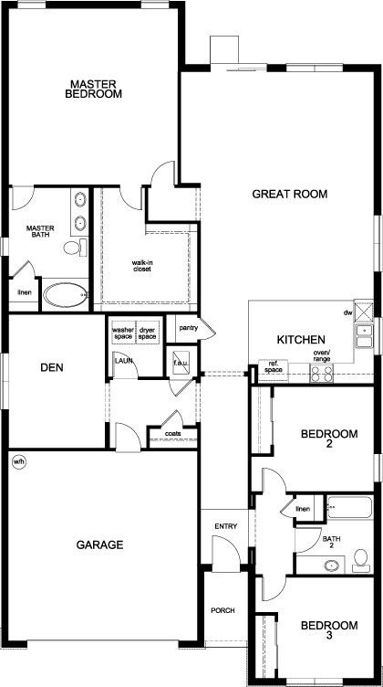 New Homes in St. Cloud, FL - Plan 2168, First Floor