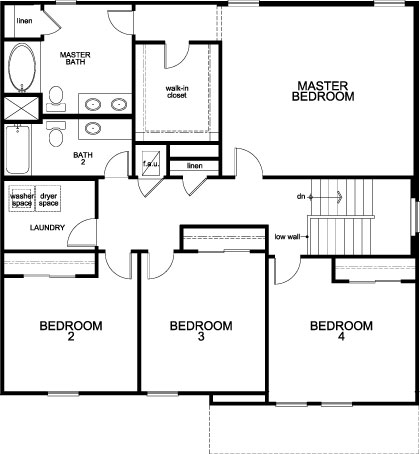 New Homes in St. Cloud, FL - Plan 2566, Second Floor