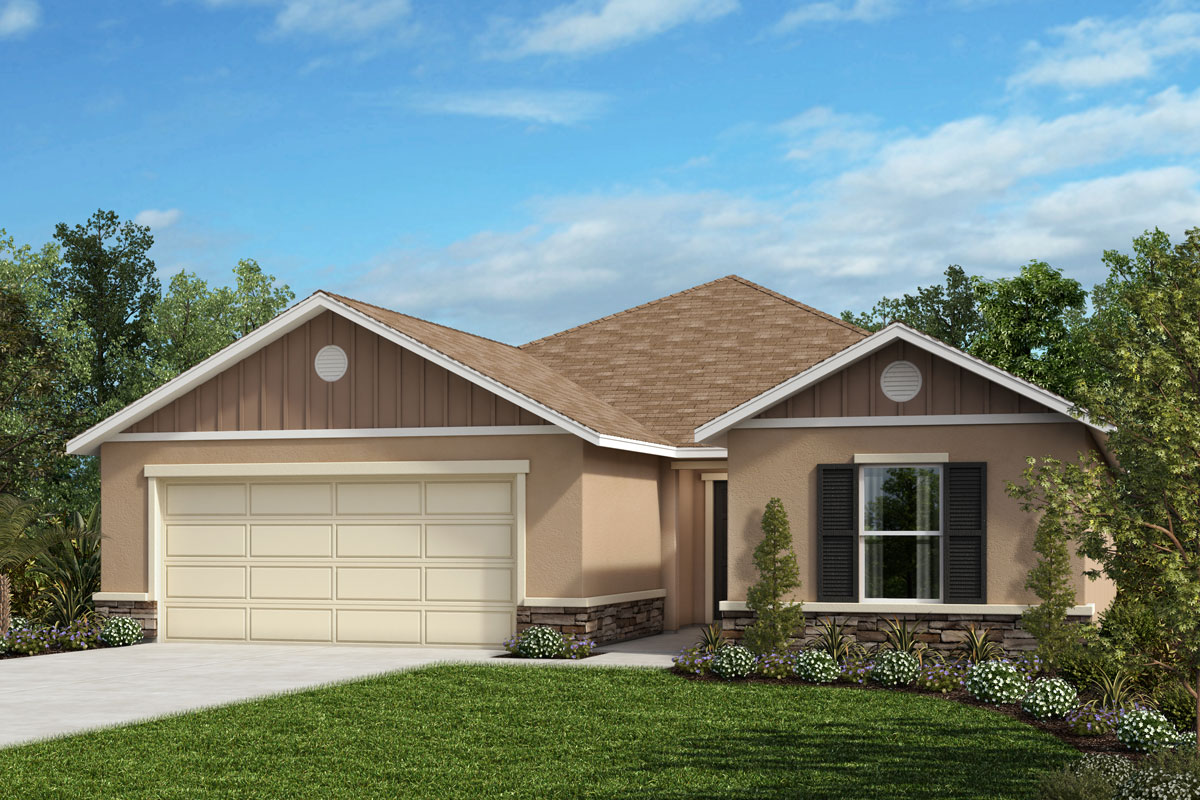 New Homes in Clermont, FL - Elevation H with optional stone
