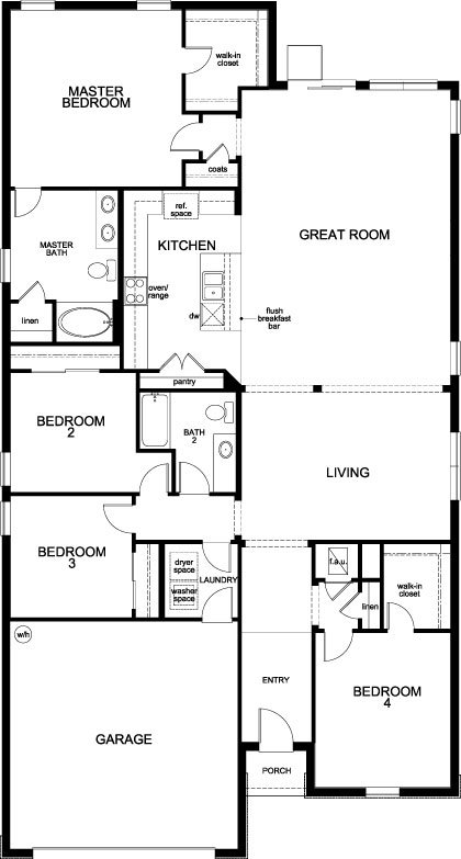New Homes in Clermont, FL - Plan 2333, First Floor