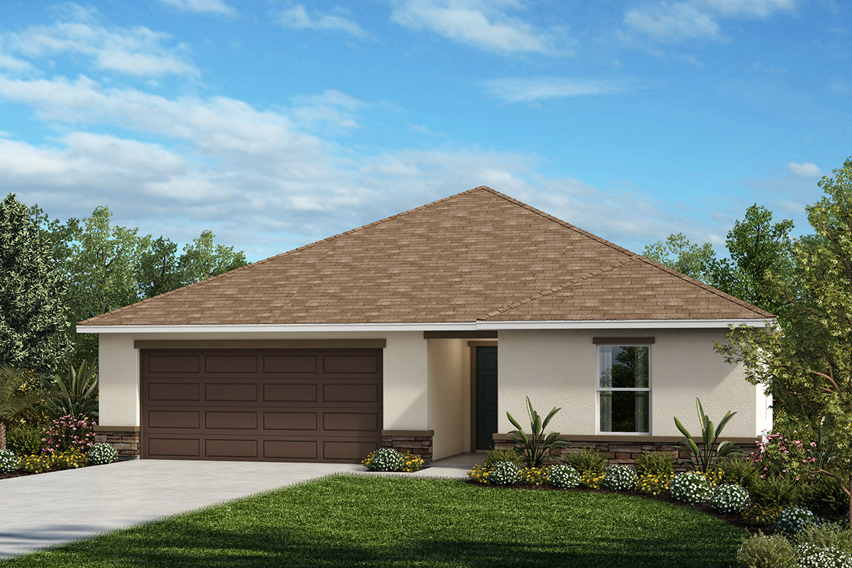 New Homes in Haines City, FL - Elevation A with optional stone