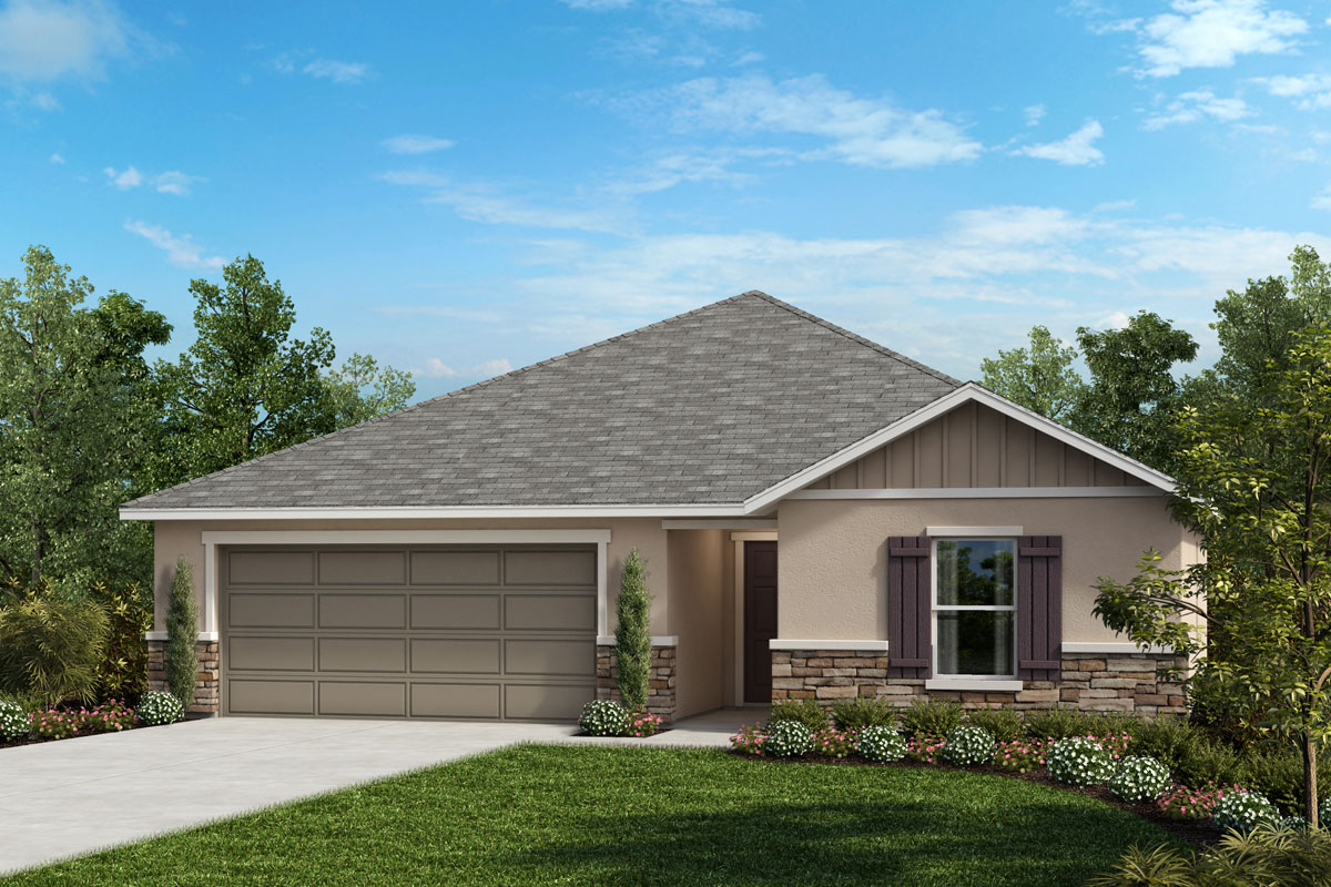 New Homes in Haines City, FL - Elevation G with optional stone