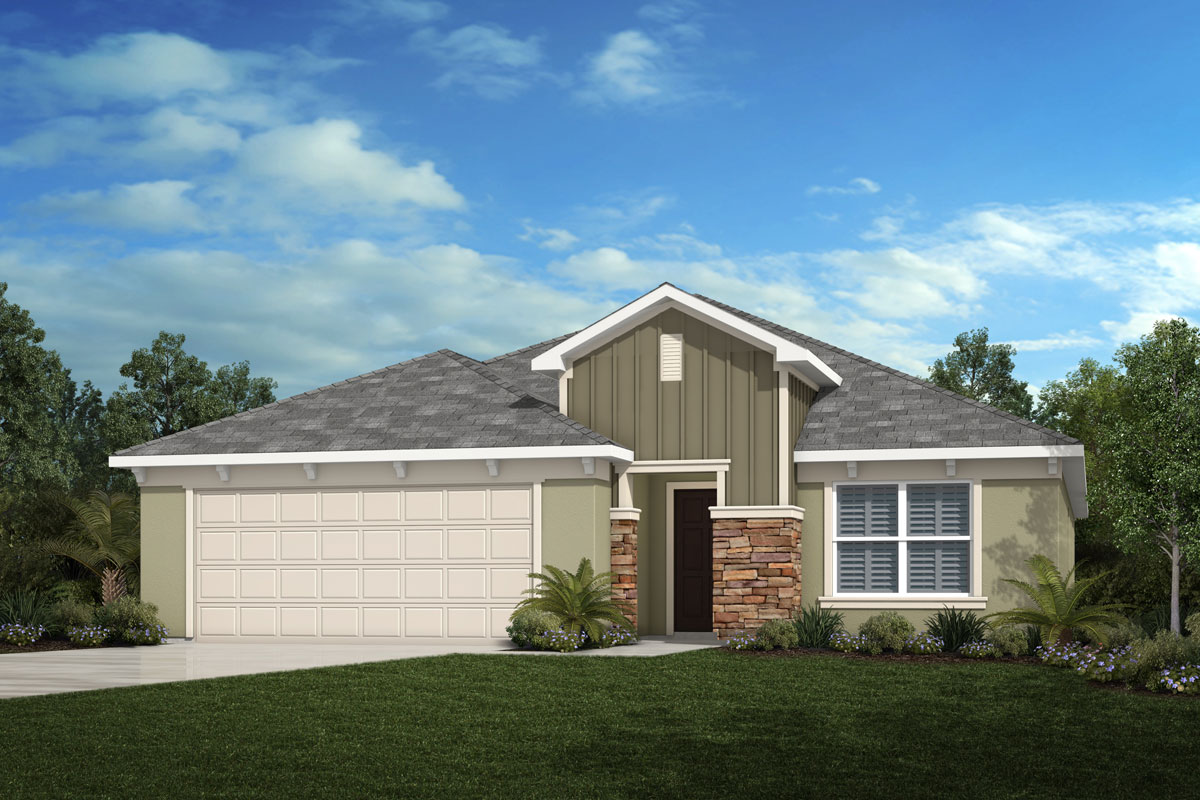 New Homes in Davenport, FL - Elevation G with optional stone
