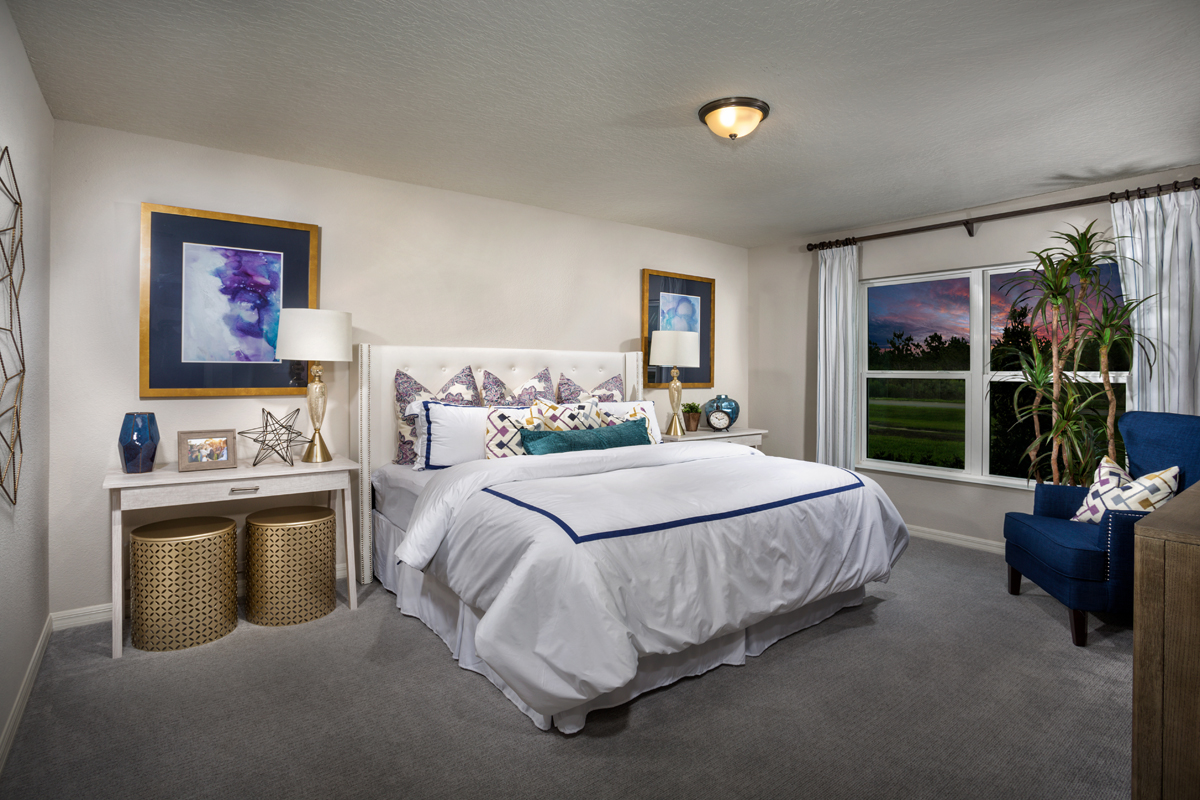 New Homes in Davenport, FL - Tivoli Reserve 1760 Master Bedroom